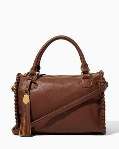 Whipstitch Tassel Satchel | Fashion Handbags & Purses - Abbey Road | charming charlie