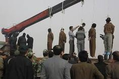 A public group execution in Iran, where the cranes are utilized to take life rather than construct buildings! . Every 8 hours one person is executed in Iran. The executions have intensified under Rouhani and the west is remaining silent in exchange for economic incentives.