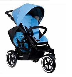 Phil and Teds Navigator Stroller WITH Face to Face Seat (Sky). Easy zip-off fabric and performance seating system features a contoured, vented seat back that reclines all the way to lie flat for a newborn, optional rear facing seat can easily be attached with removal of fabric. Fully adjustable handlebar, follow-the-sun sunhood, plastic footwell for easy cleaning, and 5-point harness with new tailfree design for easy adjustment and clean look. Stroller can hold up to 44 pounds in single…