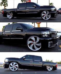Custom Chevy Trucks, Gmc Trucks, Pickup Trucks, Silverado Crew Cab, Chevrolet Silverado, 4 Door Trucks, Charger Srt Hellcat, Lowrider Trucks, Dropped Trucks