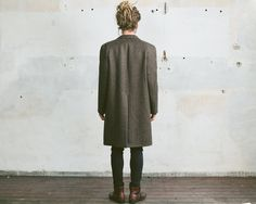 Check out our jackets & coats selection for the very best in unique or custom, handmade pieces from our shops. Wool Coat, Tweed, Retro Vintage, Knitwear, Normcore, Coats, Unique, Men, Fashion