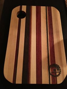 Exotic wood butcher block/cutting board built by Snhwoodworks LLC.