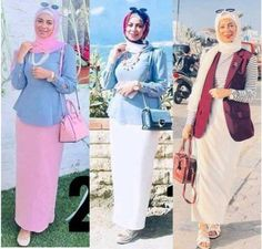 Enjoy the beautiful collection of the most versatile and professionally inspired college hijabi outfits. Hijab Dress Party, Hijab Style Dress, Casual Hijab Outfit, Modern Hijab Fashion, Hijab Fashion Inspiration, Muslim Fashion, Mode Abaya, Mode Hijab, Hijab Trends