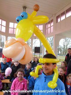 Balloon Face, Balloon Toys, Balloon Crafts, Diy Party Decorations, Balloon Decorations, Ballon Animals, Zoo Animals, Ballon Diy, Giraffe Party