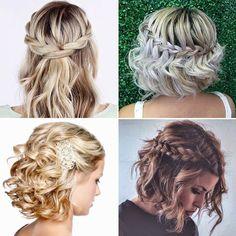 Haircut Asian Hair Hairstyle For Women Ideas Short Wedding Hair, Braids For Short Hair, Curly Hair Cuts, Curly Hair Styles, Easy Hairstyles, Wedding Hairstyles, Asian Hair, Grunge Hair, Bridesmaid Hair