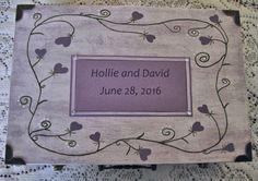 Personalized Wedding Keepsake Box Custom by simpletreasures4you