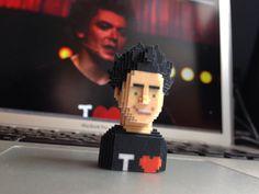 Kev Adams has been BLOXED! #leblox #pixelart #3Dprinting #tribute #soda #kevadams