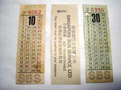 SBS bus tickets