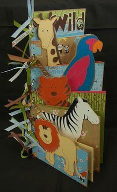 Zoo mini - (photo only) Cricut carts used:  Animal Kingdom & Mickey Font