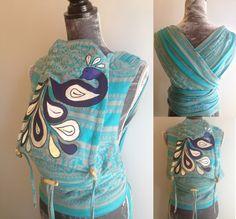 Wrap conversion mei tai (WCMT) made from Kokadi Mandolina Ice, converted by Mama Bird Carriers