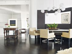 Charcoal Contemporary Dining Room | LuxeSource | Luxe Magazine - The Luxury Home Redefined
