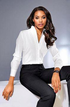 heine TIMELESS Hosenanzug mit gerader Beinform Ashley Brooke, Heine, Elegant, Tops, Super, Material, Women, Style, Products