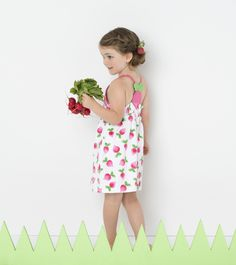 Little Ladybug Kids - Le Top - Cross Front Dress with Radish Back - White and Pink, $38.50 (http://www.littleladybugkids.com/le-top-cross-front-dress-with-radish-back-white-and-pink/)