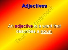 Adjectives Are Fun Powerpoint from Learning is Lots of Fun  on TeachersNotebook.com (19 pages)