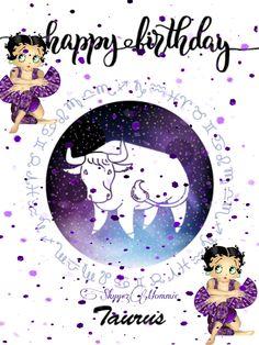 Happy BirthDay Taurus, Betty Boop Taurus Betty Boop Birthday, Happy Birthday, Spice Mixes, Taurus, Birthday Cards, Movie Posters, Movies, Art, Happy Brithday