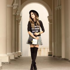 Classic black and white outfit for autumn!  by fashioncoolture
