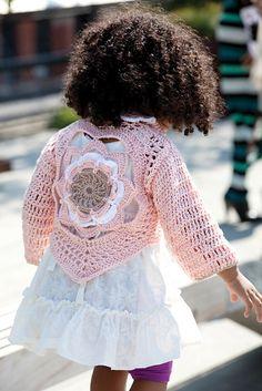 Free Crochet Pattern: Flower Child Sweater