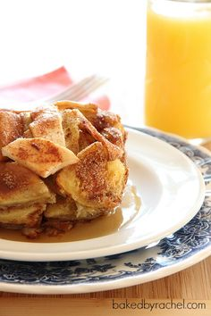 Apple Pie French Toast Casserole Recipe from bakedbyrachel.com @bakedbyrachel