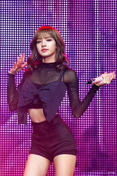 """""""imagine thinking all blackpink members don't have beautiful bodies like why delude yourself to that extent i'm-"""" Blackpink Lisa, Jennie Blackpink, Stage Outfits, Kpop Outfits, Blackpink Fashion, Korean Fashion, Blackpink Concert, Moda Kpop, Mode Rose"""