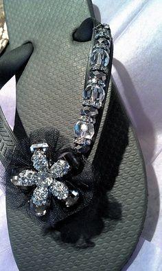 lovely designed flip flops @Sonja Nofsinger**** craft time!!!