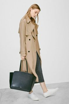 The Corporate Girl's Guide To Workwear #refinery29 http://www.refinery29.com/conservative-office-wear#slide-2 The Updated Trench Boasting all the markings of a classic trench, this relaxed and roomy fit makes the silhouette feel fresh.