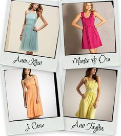 Looking for dresses to wear to summer weddings... love the blue!