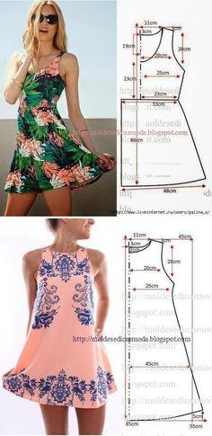 Vestidos.  Los patrones simples | manos hábiles