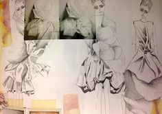 Fashion Sketchbook layout inspiration - fashion sketches; fashion portfolio