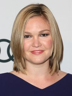 Julia Stiles Hair  Julia Stiles wore her layered shoulder-length locks sleek and straight to The Hollywood Reporter Nominees' Night 2013.
