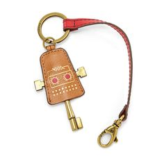 Fossil Leather Robot Keychain  FOSSIL® Accessories