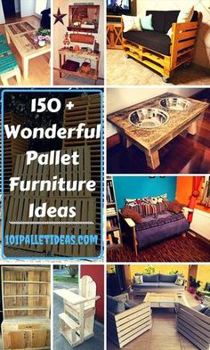 150-Wooden-Pallet-Furniture-Ideas-and-Pallet-Projects.jpg 735×1,225 pixels