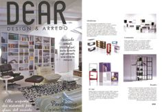 QUBY bookcase module #design by Stefan Bench in 2010 is presented in Italian Design Decor Magazine DEAR, in February 2014 issue.
