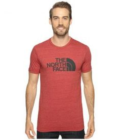The North Face Short Sleeve Tri-Blend Tee (Cardinal Red Heather/Asphalt Grey) Men's T Shirt