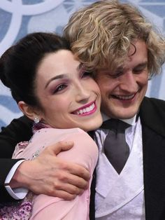 Meryl Davis and Charlie White of the USA are in a familiar place after the short program of Olympic ice dancing -- first.