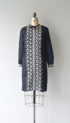Fixed Tendrils dress 1960s embroidered dress by DearGolden