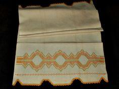 Vintage 1920 Huck Kitchen Towel Swedish Embroidery