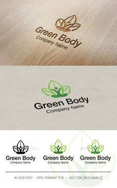 Green Body V2 - Logo Design Template Vector #logotype Download it here: http://graphicriver.net/item/green-body-v2-logo/9469487?s_rank=1594?ref=nexion