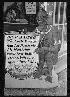 Medicine sign, Pine Bluff, Arkansas 1938