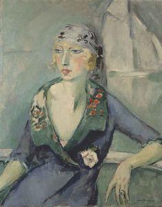 Kees van Dongen, before 1920, La femme au foulard, oil on canvas, 92.5 x 73.5 cm - Kees van Dongen - Wikipedia