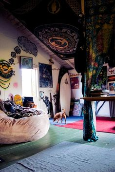 Hippie boho living space