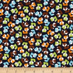 Robert Kaufman Urban Zoology Mini Foxes Bermuda from @fabricdotcom  Designed by Ann Kelle for Robert Kaufman, this cotton print is perfect for quilting, apparel and home decor accents. Colors include black, brown, lime, orange, white, and shades of blue.