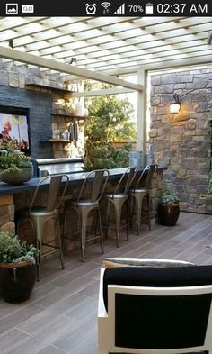 Outdoor bar, outdoor kitchen, pergola, outdoor room, TG interiors: Model Homes in Orange County and Shopping Outside Living, Outdoor Living Areas, Outdoor Rooms, Outdoor Decor, Indoor Outdoor, Outdoor Bar Areas, Outdoor Furniture, Outdoor Fire, Wicker Furniture