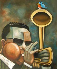 Acrylic print of Dizzy Free Jazz, Soul Jazz, Jazz Club, Bird Artists, Great Artists, African American Artist, American Artists, Dizzy Gillespie, Play That Funky Music