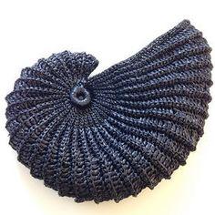 """Nautilus Shell"" Crochet Basket by Julia SimpleCraftTutorials - #knotknit"