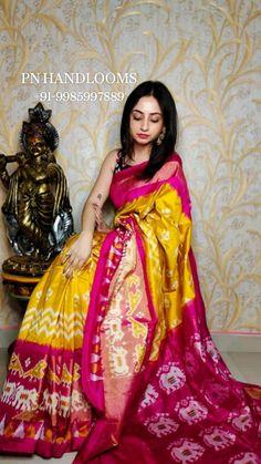 Ikkat Pattu Sarees, Bollywood Saree, Pink Saree, Half Saree, Bridal Outfits, Saree Wedding, Indian Dresses, Wedding Photography, Sari