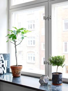 Nordic apartment with a yellow chair in the entryway Small Living Room Design, New Living Room, Interior Design Living Room, Living Room Furniture, Living Room Designs, Living Room Decor, Bedroom Decor, Window Sill Decor, Kitchen Plants