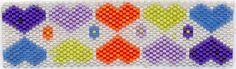 Hearts pattern bracelet made with Miyuki Delica beads (mine)