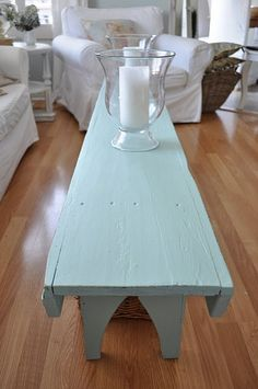 Painted Bench Table - perfect for my narrow Living Room