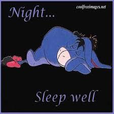 nite nite Eeyore, sweet dreams.x