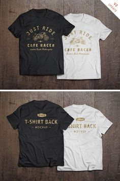 This realistic PSD mock-up allows you to showcase your t-shirt designs with ease. Just drag and drop your design...